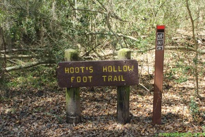 Brazos Bend State Park Hoots Hollow Sign