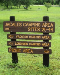 Goliad State Park - Camping Sign