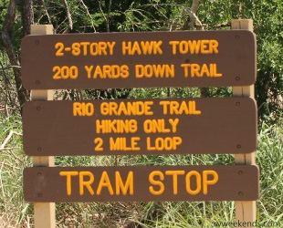 Hawk Tower Sign - Bentson Rio Grande Valley State Park
