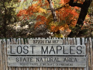 Lost Maples Park Entrance