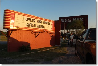 Wes-Mer Drive-In Theatre Marquee